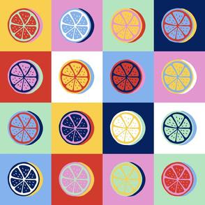 pop art citrus collection - multi colored lemons-01