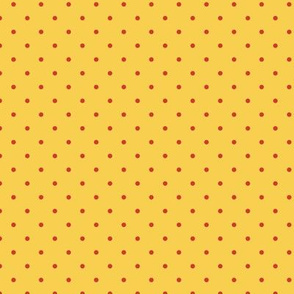 pop art citrus collection - red dots on yellow-01