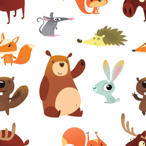 Cute Forest Animals (Super Large Size)