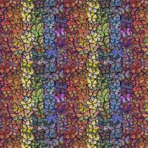 fantasy butterfly rainbow stripe