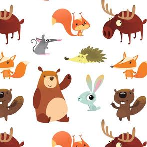 Cute Forest Animals (Medium Size)