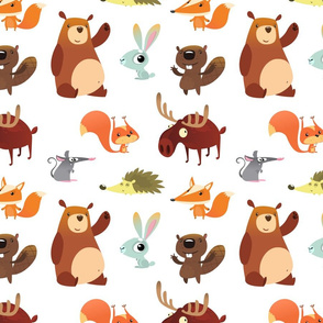 Cute Forest Animals (Small Size)