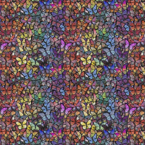 fantasy butterfly rainbow stripe remix