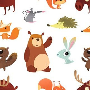 Cute Forest Animals (Mini Size)