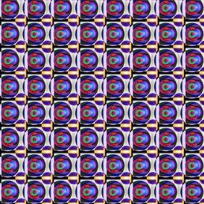 Geometric Circle - Green Blue Orange