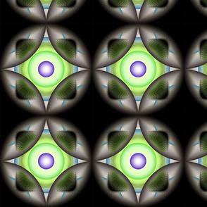 Geometric Circle - Green Purple