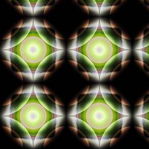 Geometric Circle - Green Yellow