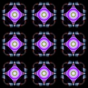 Geometric Circle - Purple Green