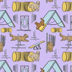 Simple Golden Retriever agility dogs - purple