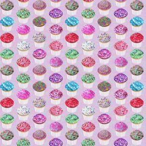 fun sprinkles party cupcakes mix on mauve pink