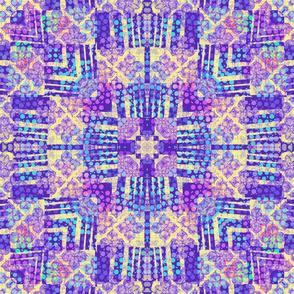 Crazy Bright Purple Kaleidoscope
