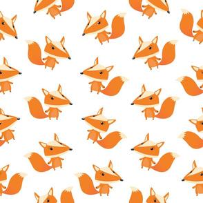Cartoon Baby Fox Pattern (Medium)