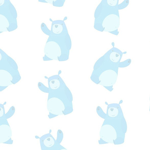 Soft Baby Blue Bears (Large Size)