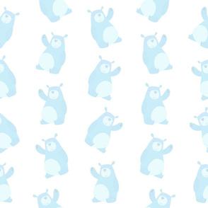 Soft Baby Blue Bears (Medium Size)