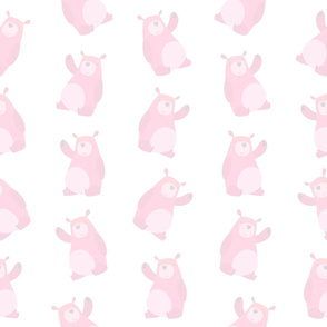 Soft Pink Baby Bears (Large Size)