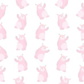Soft Pink Baby Bears (Medium Size)