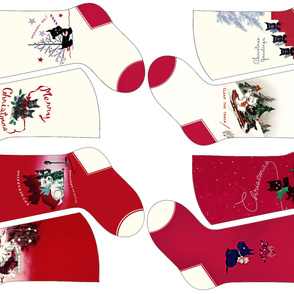 8 Scottie Dog Christmas Stockings