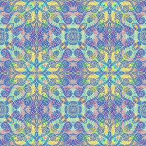 Comma Quatrefoil, multiple colors