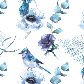 winter bird pattern
