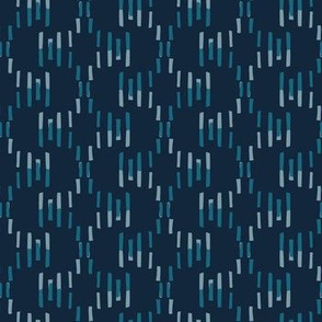 dashes - blues on navy