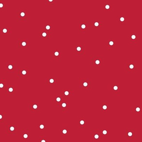 Colorful winter snow confetti fun little dots and circles valentine spots flakes christmas red
