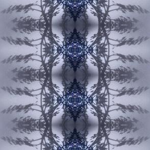 rose leaf reflection blue