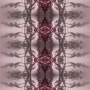 rose leaf reflection purple