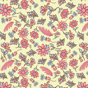 Mixed floral small- yellow