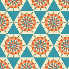 Kaleidoscope Retro Blue