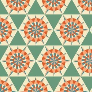 Kaleidoscope Retro Green