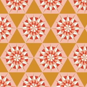 Kaleidoscope Retro Mustard