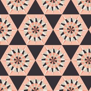 Kaleidoscope Retro Charcoal