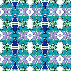Bohemian Kaleidoscope flower pattern