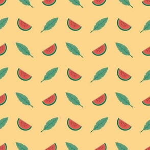 Tropical watermelon - peach - small scale