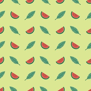 Tropical watermelon - lime - small scale