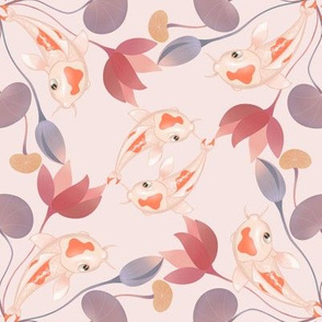 koi kaleidoscope pink
