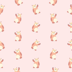 Baby Bears on Pastel Pink (Small Size)