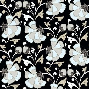 Agra Carnation-Black