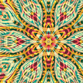 Tiki flower Kaleidoscopic
