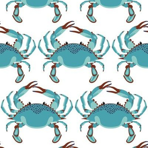 Blue Crab Jubilee // MEDIUM WHITE