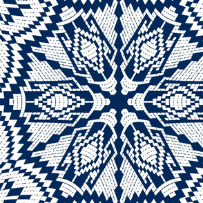 Nordic Christmas embroidery (blue)