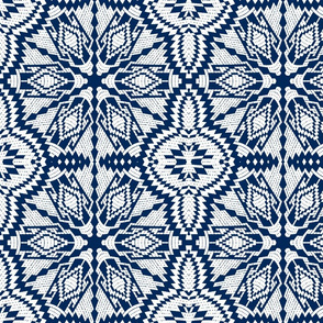 Nordic Christmas embroidery50 (blue)
