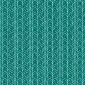 Teal and White Herringbone