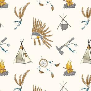 Native American tribal print