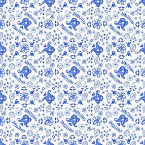 Blue little scandi tile