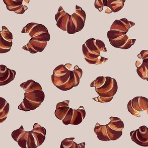 Croissant pattern on taupe