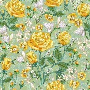 Yellow Roses | Celery Green 2