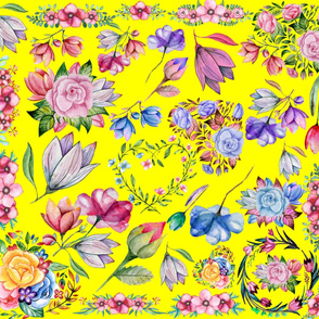 Bright Yellow Chintz