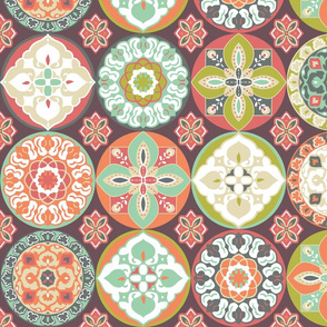 Kaleidoscope Medallion Tiles