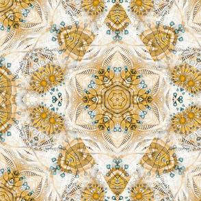 kaliedoscope yellow floral